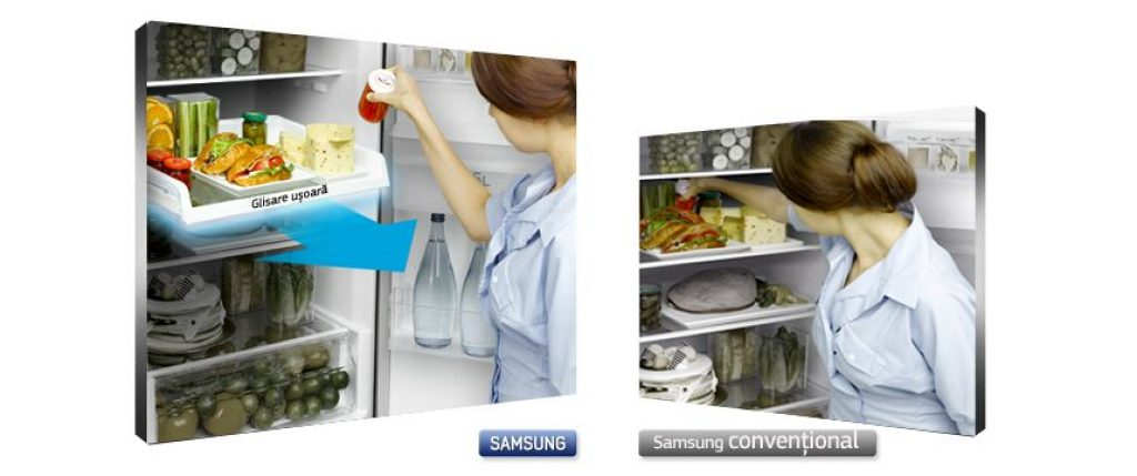 Samsung RB31FDRNDSA acces Easy Slide Shelf
